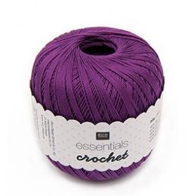 Coton mercerisé violet 50g - Rico Design