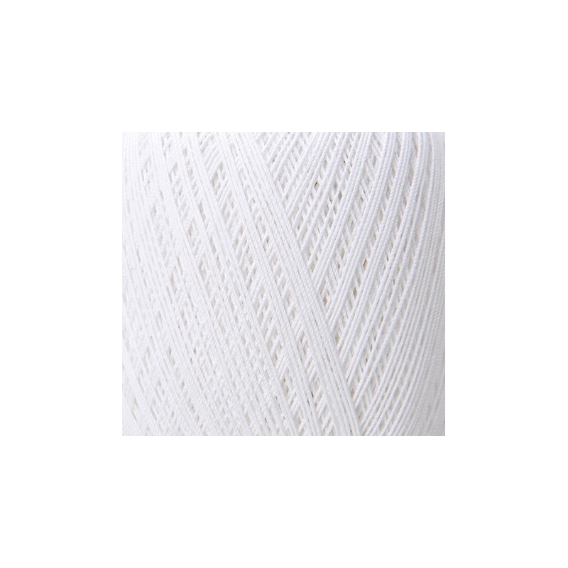 Coton mercerisé blanc 50g - Rico Design