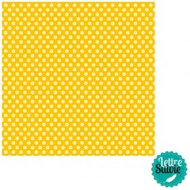 Feutrine jaune imprimée fleurs - Artemio