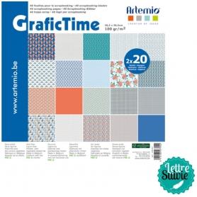"Papiers scrapbooking ""grafictime"" 30.5 cm - Artemio"