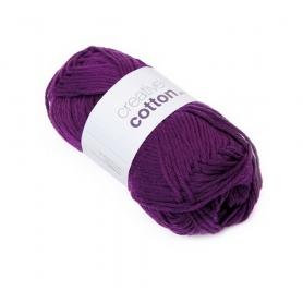 "Pelote creative cotton aran violet ""cardinal"" Rico Design"