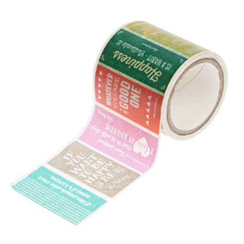 "Washi tape large Hazel & Ruby ""colorblock quote me"""