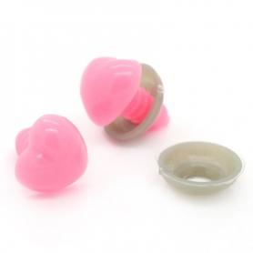 5 Nez de sécurité rose en forme de coeur (13 mm)