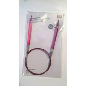 Aiguilles circulaire acrylique rose n°8 Rico Design
