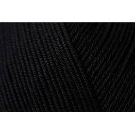 Pelote fil de coton essentials cotton dk noir Rico Design