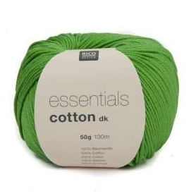 Pelote fil de coton essentials cotton dk vert herbe Rico Design
