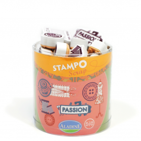Stampo Scrap couture Aladine x 28 tampons