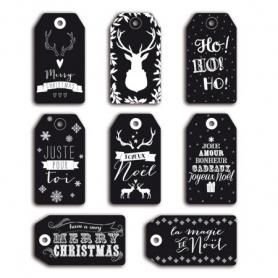 Etiquettes Noël Toga Noires x 8