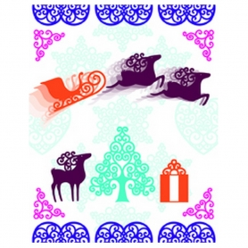 Tampons Clear Noël volutes Artemio
