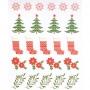 "Stickers Noël Scandinave ""rouge"" Rico Design"