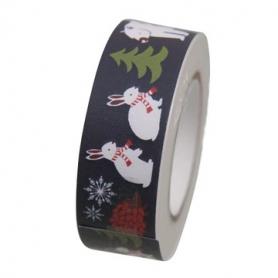 Masking tape forêt hivernale bleu foncé de Rico Design
