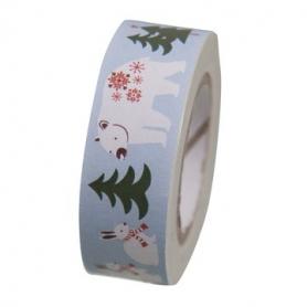 Masking tape forêt hivernale animaux de Rico Design
