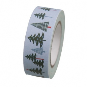 Masking tape forêt hivernale sapin de Rico Design
