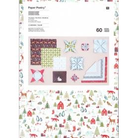"""Papier origami Noël """"forêt hivernale"""" - Rico Design"""