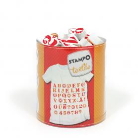 Stampo Textile - Alphabet et chiffres