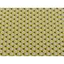 Coupon de tissus jaune moutarde fleuri 50 x 160 cm