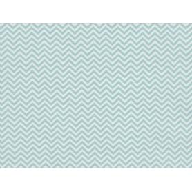 Coupon de tissus 50 x 160 cm chevrons bleu clair