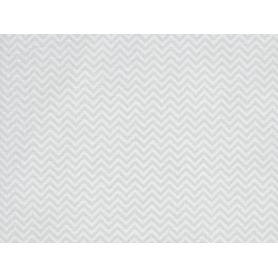 Coupon de tissus 50 x 160 cm chevrons gris