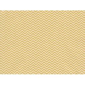 Coupon de tissus 50 x 160 cm chevrons jaune moutarde