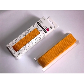 Sangle coton 2,5 cm jaune moutarde Rico Design