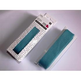 Sangle coton 2,5 cm bleu turquoise Rico Design