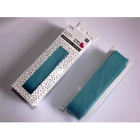 Sangle coton 2,5 cm bleu turquoise Rico Design