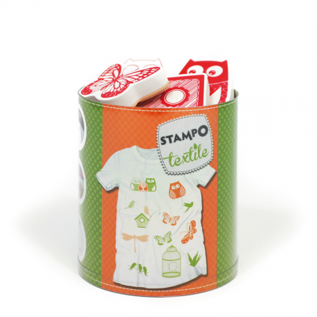 Stampo Textile - Nature x 13 tampons