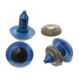5 paires d'yeux amigurumi et doudous bleu 16 mm