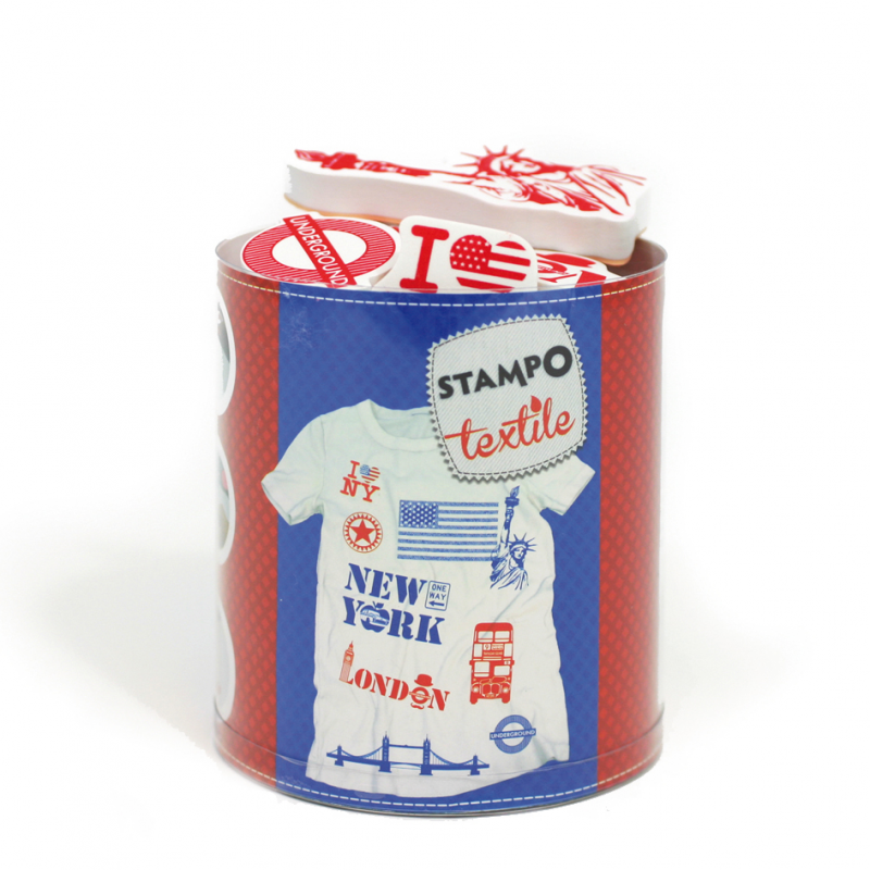 Stampo Textile London - New York x 11 tampons