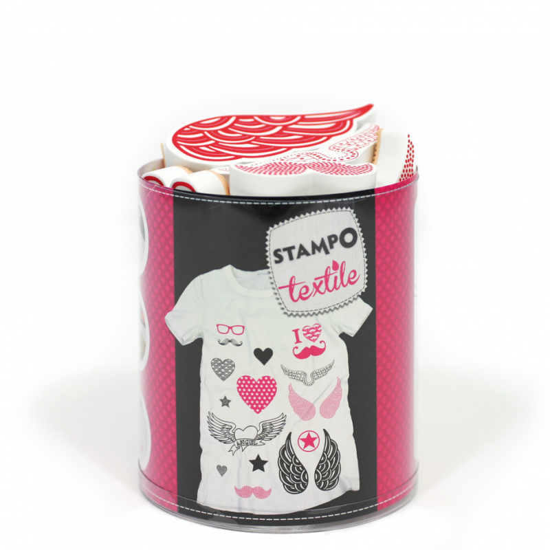 Stampo Textile Love & Chic x 17 tampons