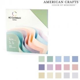 Bloc 60 feuilles Cardstock texturé Pastel - American Crafts