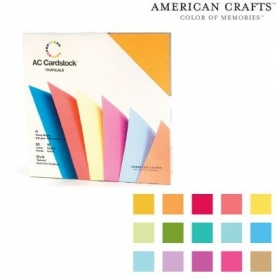 "Bloc 60 feuilles Cardstock texturé ""Tropical""- American Crafts"