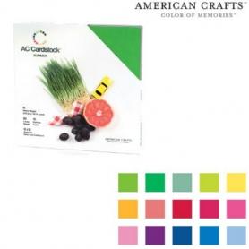 """Bloc 60 feuilles Cardstock texturé """"été""""- American Crafts"""