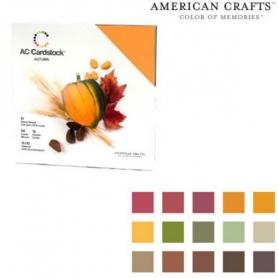 "Bloc 60 feuilles Cardstock texturé ""automne""- American Crafts"