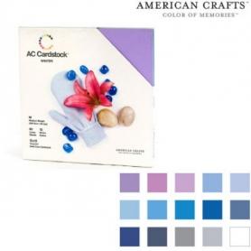 "Bloc 60 feuilles Cardstock texturé ""hiver""- American Crafts"