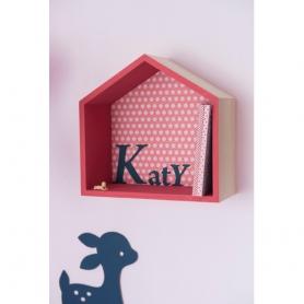 Lot 3 étagères maisons en bois à décorer - Artemio