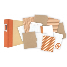 Kit Simple Stories orange pour Project Life 15 x 20 cm