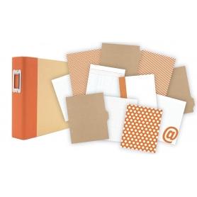 Kit Simple Stories orange pour Project Life 15 x 20 cm