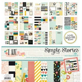 "Kit papiers et embellissements Simple Storie ""I AM"""