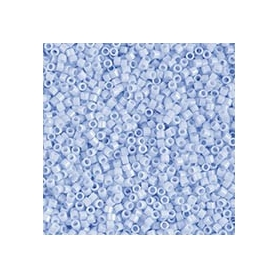 Perle rocailles japonaises itoshii tube bleu clair opaque - Rico Design
