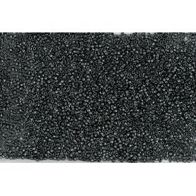 Perle rocailles japonaises itoshii tube gris foncé métallisé - Rico Design