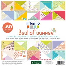 "Bloc 180 feuilles scrapbooking ""Best Of Summer"" 30.5 cm"