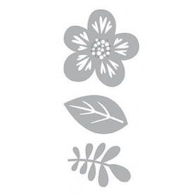 3 Dies de découpe feuilles et fleur compatibles toutes machine - Artemio