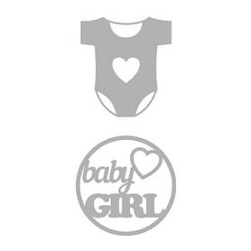 2 Dies de découpe bébé fille compatibles toutes machine - Artemio