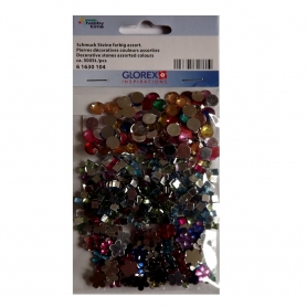 Lot de 500 strass à coller - Glorex