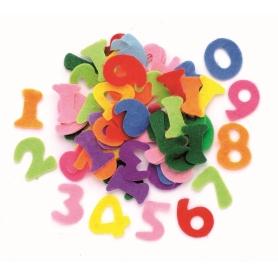 150 chiffres en feutrines coloris assortis - Glorex
