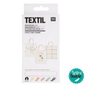 """Feutres textiles x 5 """"Néon"""" Rico Design"""