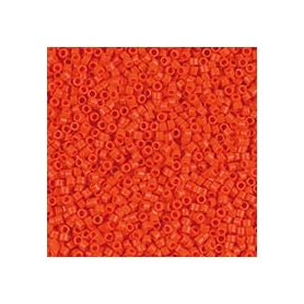 Perle rocailles japonaises itoshii tube orange opaque - Rico Design