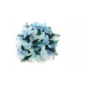 Lot de plumes bleues et turquoise - Glorex