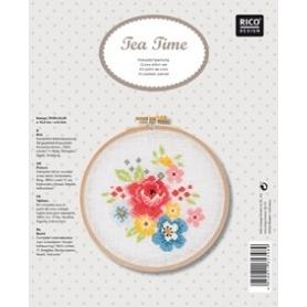 """Kit de broderie points comptés """"fleurs"""" - Rico Design"""